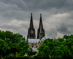 cologne cathedral (NBroning) Tags: cologne köln koeln colonia cathedral trees autumn sky skylight