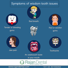 Symptoms of wisdom tooth issues (riorya) Tags: dentistry dentalclinic dentalcare health dentaltreatment teeth smile surgery dentist rajandental