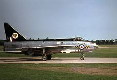XM145. Royal Air Force English Electric Lightning F.1 (Ayronautica) Tags: rafcoltishall 1963 july englishelectriclightningf1 xm145 74sqn royalairforce raf fighter military scanned aviation ayronautica