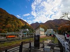 Unazuki Station (r0yc3) Tags: unazuki station kurobe gorge railway toyama japan alps koyo autumn
