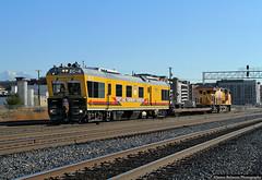 Detector Out (jamesbelmont) Tags: trackinspectioncar ec4 unionpacific saltlakecity utah flatcar ge et44ah newextension worktrain