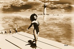 La Frontera (♡ Ɗ A K O T A L E I G H ♡) Tags: lafrontera landscape skies sim sea sky secondlife ava catwa maitreya beach lighthouse girl portrait fameshed deetalez scandalize utopiadesign