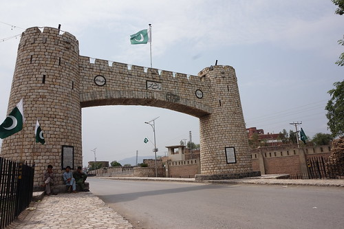 Bab-e-Khyber, entrance to Pakistan's tribal areas, near Peshawar.