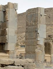 005 Hundred Column Hall (Sedsetoon), North Doorway, Persepolis  (15).JPG (tobeytravels) Tags: artaxerxes xerxes ahurmazda alexanderthegreat