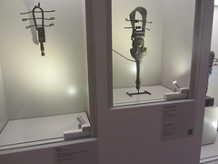 Sistrums, CaixaForum, Madrid, June 2018 (d.kevan) Tags: exhibitions caixaforum ancientinstruments displaycabinets june2018 madrid spain exhibits sistrums