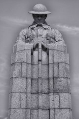 The Brooding Soldier (Eric@focus) Tags: canadian warmemorial soldier sculpture 19141918 wwi westfront bwartaward blackwhitephotos