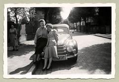 "DKW F89 Meisterklasse (Vintage Cars & People) Tags: vintage classic black white ""blackwhite"" sw photo foto photography automobile car cars motor dkwf89 dkw meisterklasse vehicle antique auto 1950s fifties fashion lady woman wirtschaftswunder femalesuit ladyssuit skirt pumps heels street sidewalk cobbles town badoeynhausen"