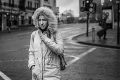 Windswept (Leanne Boulton) Tags: urban street candid portrait portraiture streetphotography candidstreetphotography candidportrait streetportrait eyecontact candideyecontact streetlife woman female girl face eyes expression mood emotion feeling weather wind windy winter fur furry hood tone texture detail depthoffield bokeh naturallight outdoor light shade city scene human life living humanity society culture lifestyle people fashion canon canon5dmkiii 70mm ef2470mmf28liiusm black white blackwhite bw mono blackandwhite monochrome glasgow scotland uk