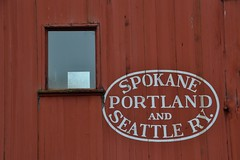 PNW R/R History (Don's View) Tags: seattle portland spokane rr red spokaneportlandandseattlery caboose railroad