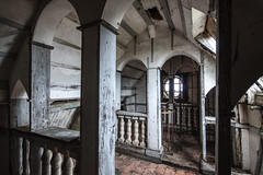 Sous les toits (ForgottenMelodies) Tags: urbex building decay church abandonné exploration outdoor lost clouds religious urban pentax k3 oublié abandoned france panorama europe forgotten derelict