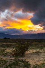 Borrego Springs Sunset (slworking2) Tags: borregosprings california unitedstatesofamerica us sunset clouds ominous sky desert anzaborrego anzaborregodesertstatepark orange colorful weather