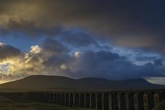 Ribblehead_15 (julesh1966@googlemail.com) Tags: ribbleheadviaduct northyorkshire yorkshiredales sunrise clouds railway landscape grassland ingleborough colour autumn ariel drone