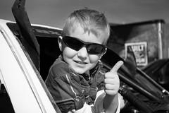 Off Road Racing 5 (CameraOne) Tags: offroadracing tpfracing pahrump pahrump250 nevada dirt desert toyota tacoma raw blackandwhite monochrome wideangle thumbsup boy sunglasses portrait canon5d canonef1740mm cameraone techinspection 7196