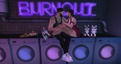 Burnout.. (Eivoen) Tags: huskies puppy maitreya mesh meshbody meshhead burger laundry fries cap sneakers signature catwa catya daniel jogger swag neon burnout dogtreats beer tattoos scandalize king queen valekoer