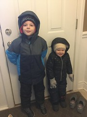 """Paul and Dani Get Ready to Go Out in the Snow • <a style=""""font-size:0.8em;"""" href=""""http://www.flickr.com/photos/109120354@N07/39967597343/"""" target=""""_blank"""">View on Flickr</a>"""