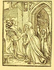 This image is taken from Page 85 of Der Todtentanz von H. Holbein, nach dem Exemplare der ersten Ausgabe im Kgl. Kupferstich-Cabinet zu Berlin in Lichtdruck nachgebildet (Medical Heritage Library, Inc.) Tags: dance death rcplondon ukmhl medicalheritagelibrary europeanlibraries date1879 idb22651263