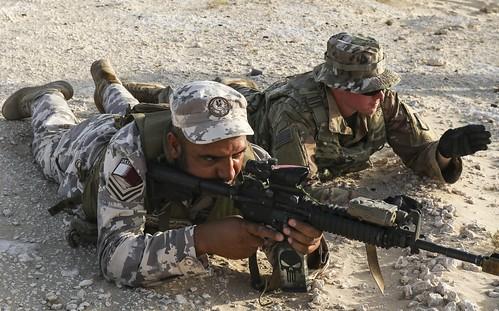 2-198 Infantrymen, Qatari Soldiers Conduct Bunker Clearing Training