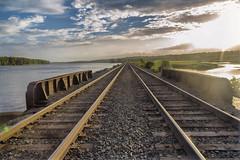 Looking North (milfodd) Tags: july 2018 railroadtracks bridge vp
