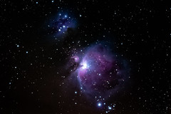 M42 Orion Nebula and Running Man Nebula ([-ChristiaN-]) Tags: milkyway galaxy m42 messier space cosmos weltall astrophotography astro astronomy astronomie colorful bunt farbenfro runningman nebula nebel orion stars starry sterne