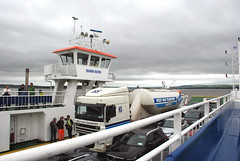 River Shannon Ferry, Ireland (pag2525) Tags: ireland river shannon ferry cars auto water truck
