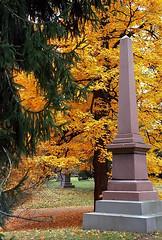 """Cincinnati - Spring Grove Cemetery & Arboretum """"Autumn Obelisk"""" (David Paul Ohmer) Tags: cincinnati ohio spring grove cemetery arboretum obelisk autumn fall"""