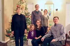 Family Portrait (Piedmont Fossil) Tags: christmas tree 2018 mary teagan kelly glenn anne mike family