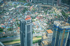 View of Buidlings and Construction from Petronas Twin Towers in KL
