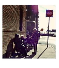 Brighton Beach Memoirs (Robert S. Photography) Tags: autumn conversation dog elderly street scene sunshine smiles brighton beach brooklyn nyc vintage sign building sony color dscwx150 iso100 october 2018