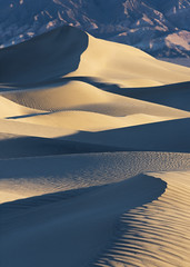 Dune Life... (musiqfan23) Tags: deathvalley sanddunes sunrise peak lightandshadow mountains california nevada textures patterns nature