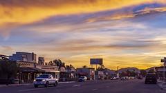 Down On Main Street. Ramona, California Sunset Timelapse (slworking2) Tags: timelapse ramona califonria sandiego sandiegocounty smalltown sunset clouds sky street autos cars