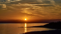 Sunset on Lake Constance (flowerikka) Tags: atmosphere autumncolors autumnmood bodensee boje clouds eveningmood eveningsun germany golden lake lakeconstance lakeside sea see seeufer shore silence sky sonnenuntergang sunset ufer wasserspiegelungen water reflection
