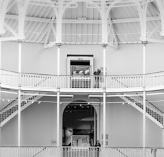 exhibits (louys:) Tags: museumofscotlandcandidstairsbw fuji xt2 xf90mmf2rlmwr bw mono museumofscotland interior architecture stairs