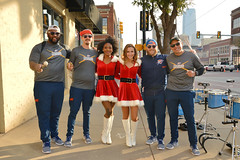 The Thunder Drummers and Girls (radargeek) Tags: okc oklahomacity automobilealley downtown drummers thunder girls cheerleaders smile 2018 november