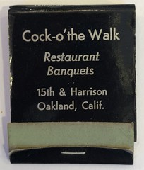 COCK-O'THE WALK OAKLAND CALIF (ussiwojima) Tags: cockothewalk cockofthewalk restaurant bar cocktail lounge sacramento california advertising matchbook matchcover