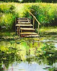 Gone Fishing by Gleb Goloubetski, Oil on Canvas (katalaynet) Tags: follow happy me fun photooftheday beautiful love friends
