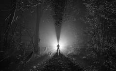 Fogman.  339/365. (FadeToBlackLP) Tags: longexposure backlit backlight mono blackandwhite lightpainting silhouette