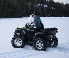 Chase and the elements (Pwern2) Tags: winter canadian canada wilderness thebush friendlymanitoba friendly talking ruralmanitoba ruralbeauty conversations enjoyinglife friends friendship atvs atv nature pedruchnybay lakewinnipeg snow ice beer pointdubois beauty tradition