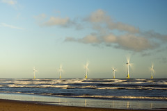 Wind Farm (syf22) Tags: aberdeen nescotland scotland wind energy windfarm offshore structure clean power distance sea ashore electricity supply capacity motion natural move air gale blast breath breeze draft gust wave tower sky skyline clear