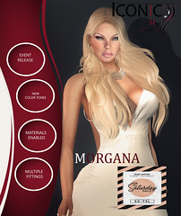 ICONIC_MORGANA (Neveah Niu /The ICONIC Owner) Tags: sale saturday morgana mesh secondlife neveahniu dress white blonde color packs blacks obsidian