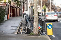 DUBLINBIKES DOCKING STATION 110 [AT McGOWANS OF PHIBSBOROUGH]-146409 (infomatique) Tags: dublinbokes dockingstation station110 publictransport bikehire bicyclerental mcgownspub streetphotography williammurphy infomatique fotonique ireland sony a7riii sigma 105mmlens