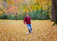 A sea of leaves (Jenny Onsager) Tags: leaves sea fall fallcolorsautumn soccer ball soccerplayer collegebound fallingleaves