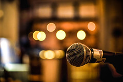 Let the music start (jimiliop) Tags: mic microphone music night live bar bokeh lights