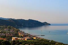 Blick auf Agios Stefanos (marlon.freiberger) Tags: korfu urlaub afionas bergdorf arillas beach strand felsen gestein landschaft meer natur ozean
