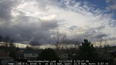November 3, 2018 - Cool clouds in Thornton. (ThorntonWeather.com)