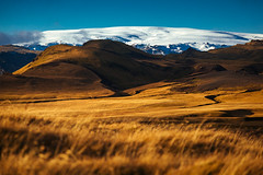 Mýrdalsjökull (Mathijs Buijs) Tags: fields grass sun glacier myrdalsjokull thakgil vik iceland south europe canon eos 5d mark mk iii