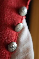34 (peterkelly) Tags: digital canon 6d ontario canada northamerica fortmaldennationalhistoricsite brickbarracks red encarnado uniform military button 34