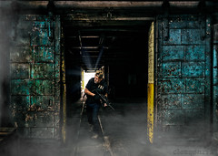 FBI - DSC9490 smoke 4k (cleansurf2 - Portrait portfolio) Tags: fbi agent man gun police urbex industrial grime grunge yellow black blue light action sony soldier cosplay colour color cinematography character cinematic vivid background cinamatic movie figure face dark drama deadly darkdeviations a7ii edgy emount screensaver 4k wallpaper warehouse portrait ilce7m2 urban theme texture rustic roleplay rifle