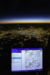 My Office window - Flickr (Keith Pritchard1) Tags: boeing 757 brussels aircraft flying plane cockpit b757 night sky moon aerial photo photography photograph ipad