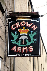 Pub sign for The Crown Arms, Linlithgow. (Peter Anthony Gorman) Tags: pubsigns crownarms scotishpubs scotland linlithgow