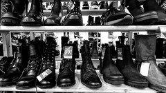 Don't Throw Away Your Old Shoes (Alfred Grupstra) Tags: shoe fashion store clothing retail boot collection leather elegance pair nopeople closeup new groupofobjects personalaccessory shopping modern blackcolor sale consumerism